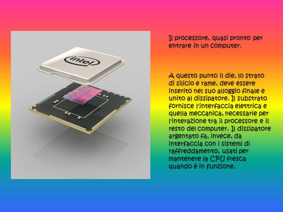 Il processore, quasi pronto per entrare in un computer.