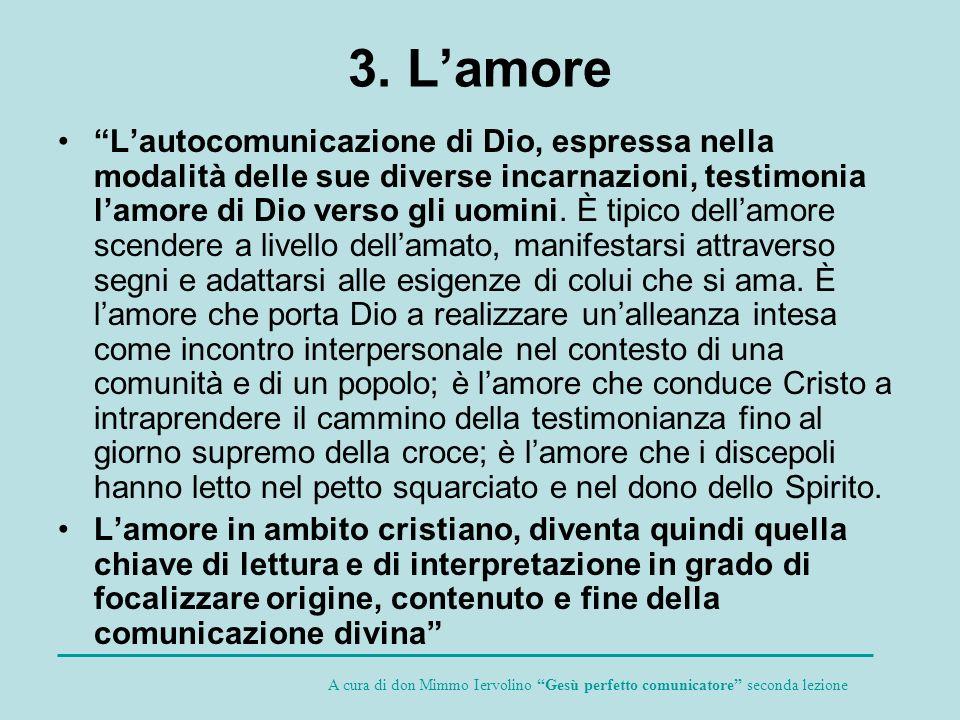 3. L'amore