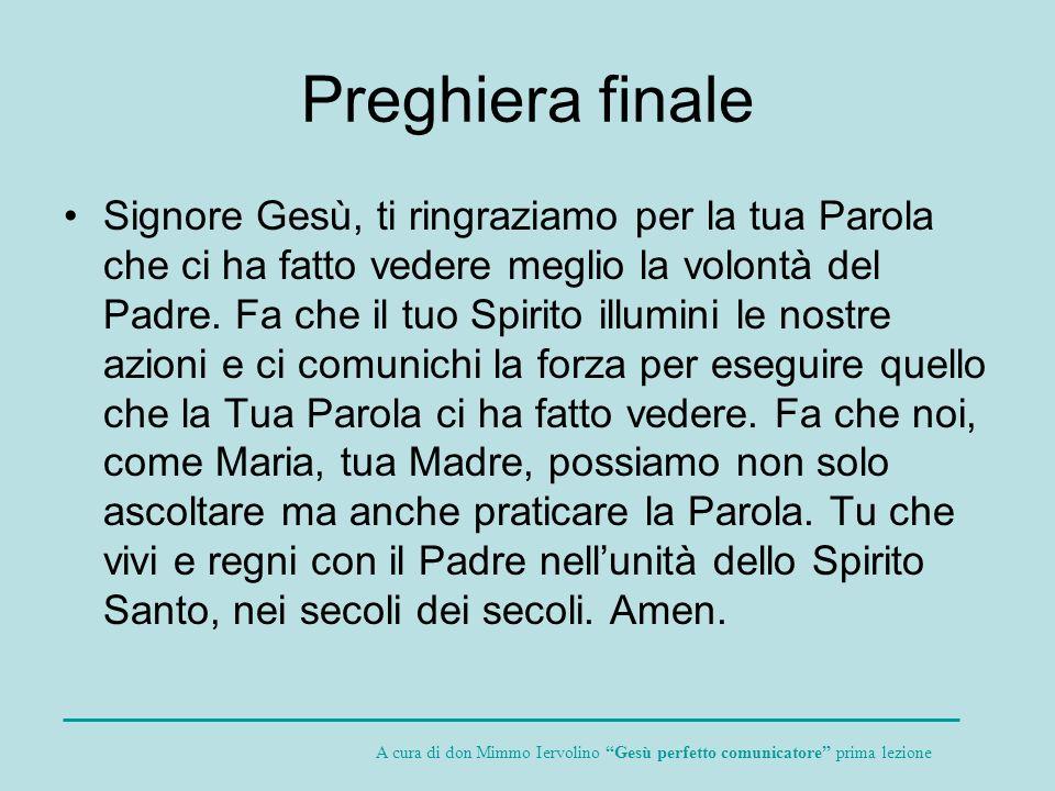 Preghiera finale