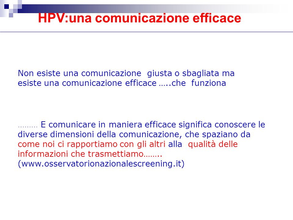 HPV:una comunicazione efficace