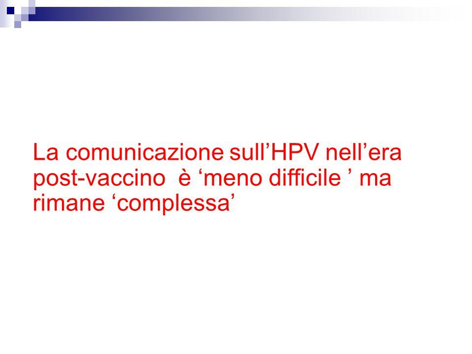 La comunicazione sull'HPV nell'era post-vaccino è 'meno difficile ' ma rimane 'complessa'