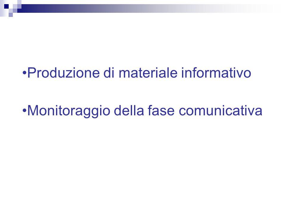 Produzione di materiale informativo
