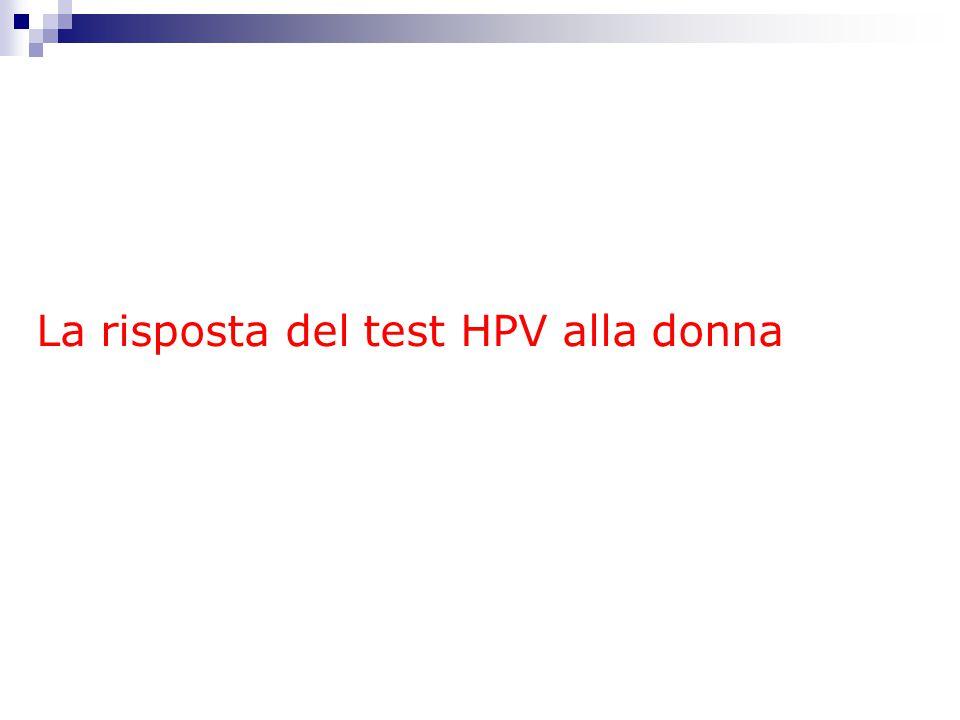 La risposta del test HPV alla donna