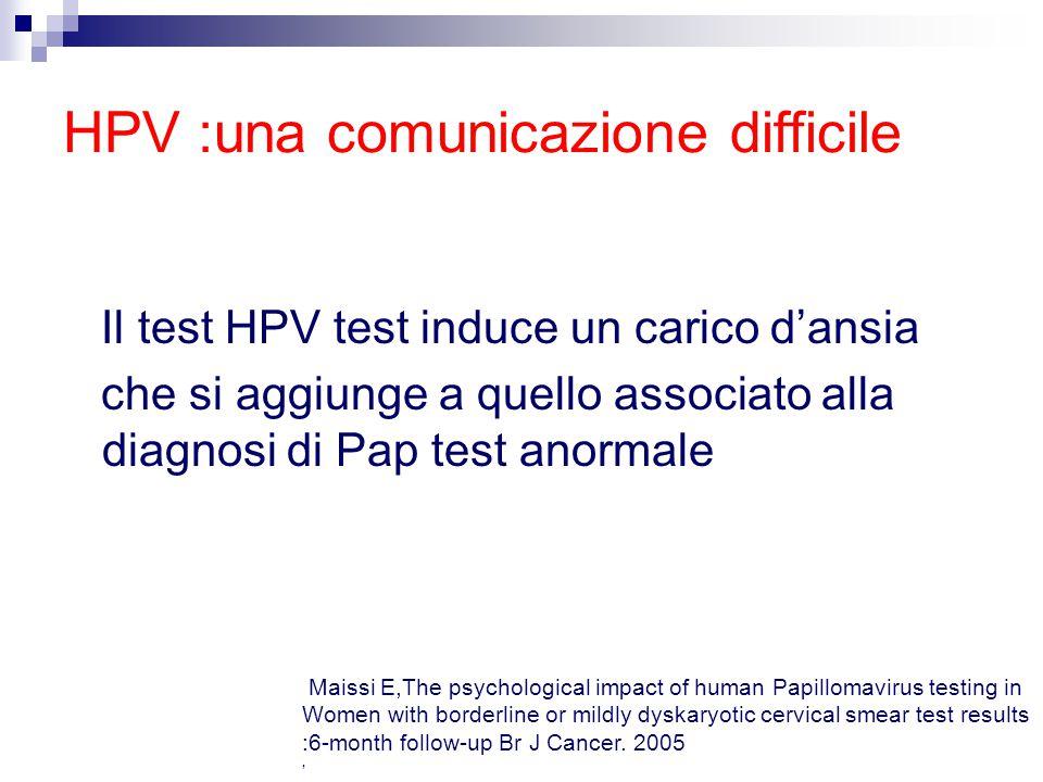 HPV :una comunicazione difficile