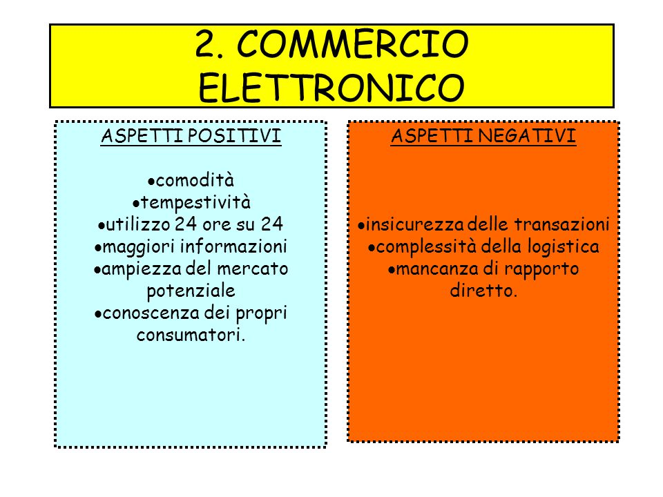 2. COMMERCIO ELETTRONICO