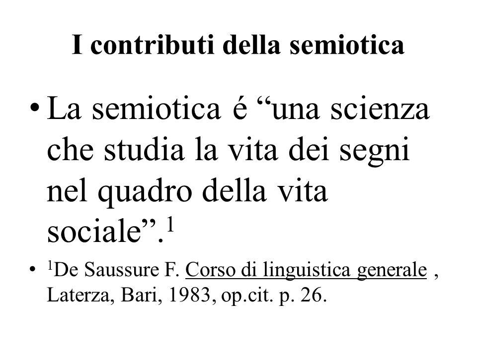 I contributi della semiotica