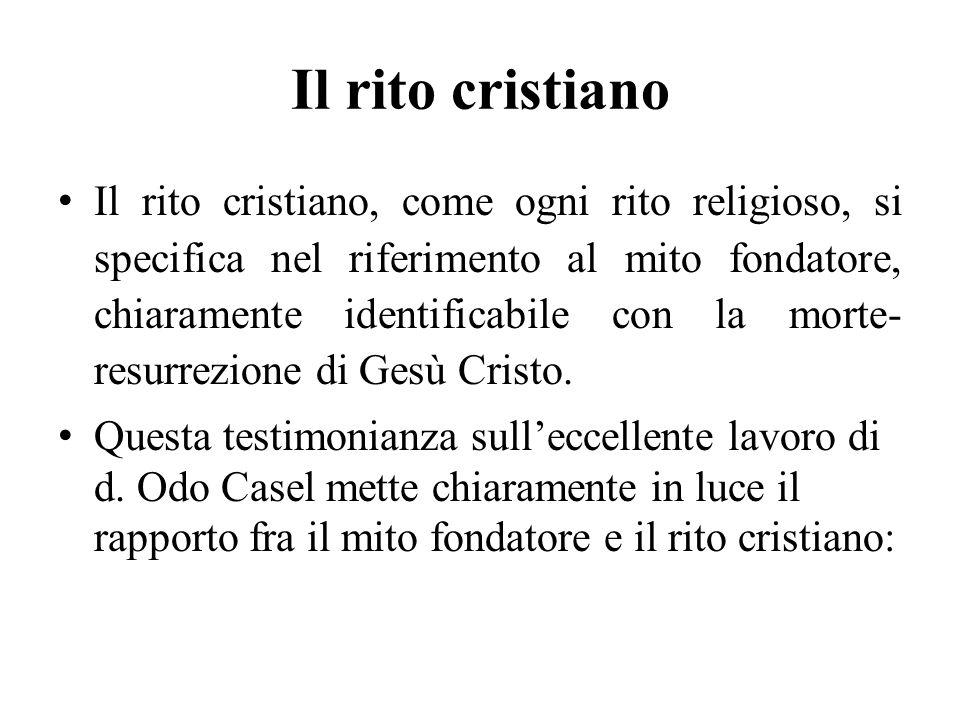 Il rito cristiano