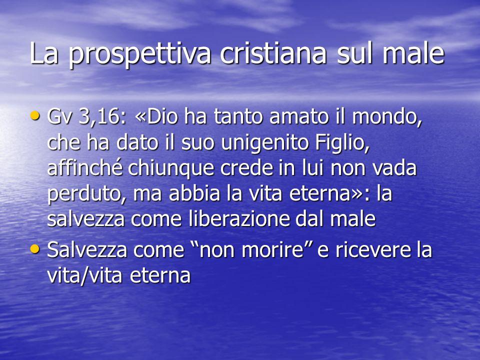 La prospettiva cristiana sul male
