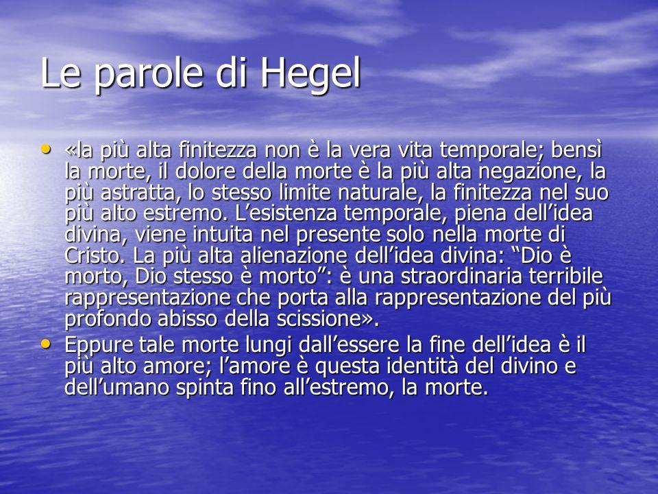 Le parole di Hegel