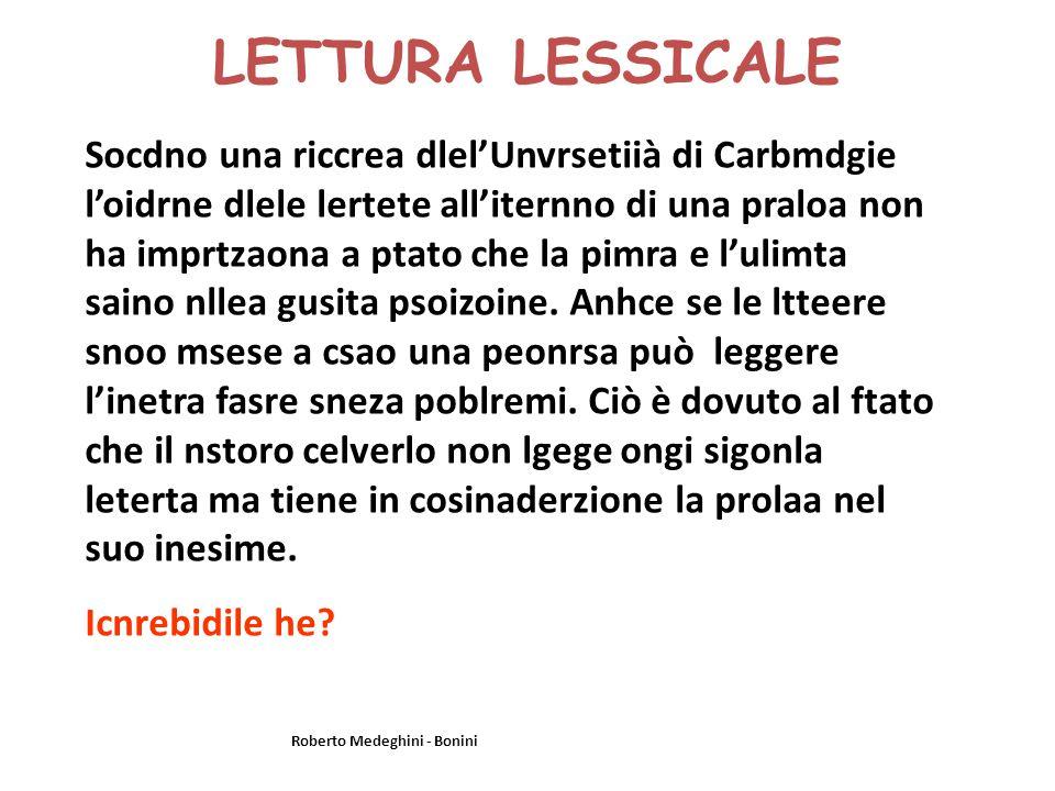 LETTURA LESSICALE