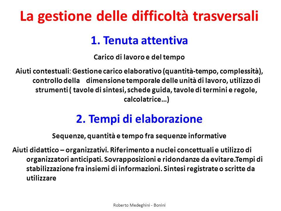 La gestione delle difficoltà trasversali