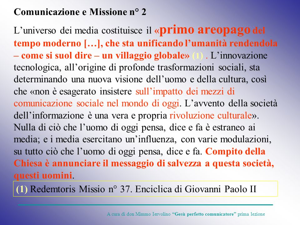 Comunicazione e Missione n° 2