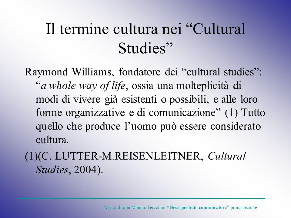 Il termine cultura nei Cultural Studies