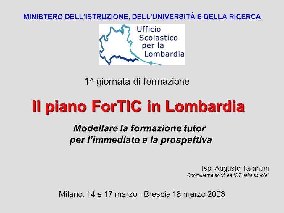 Il piano ForTIC in Lombardia