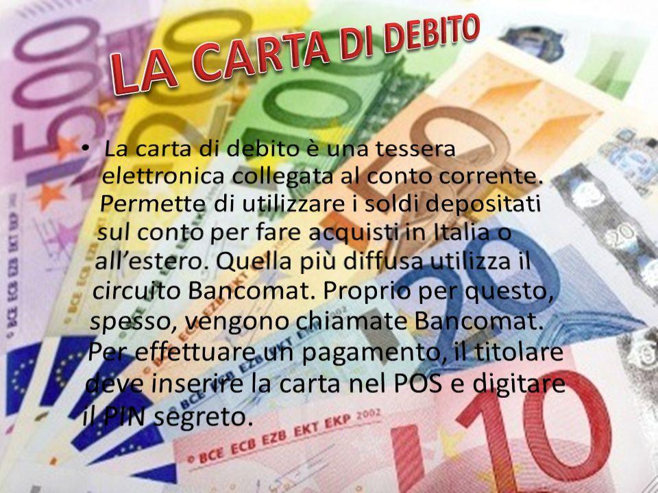 LA CARTA DI DEBITO