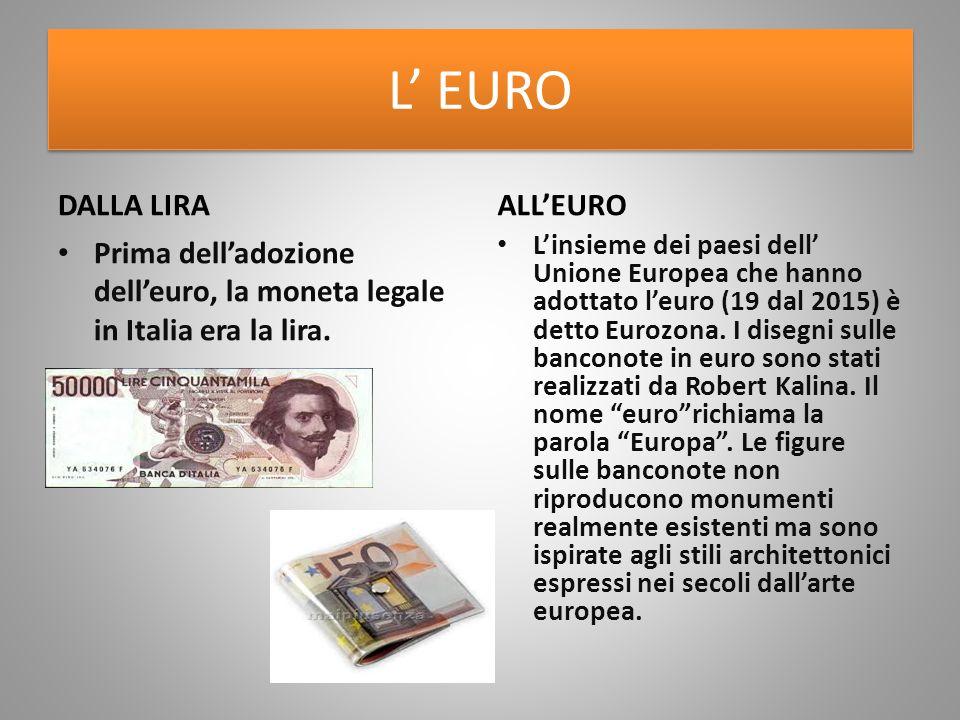 L' EURO DALLA LIRA ALL'EURO