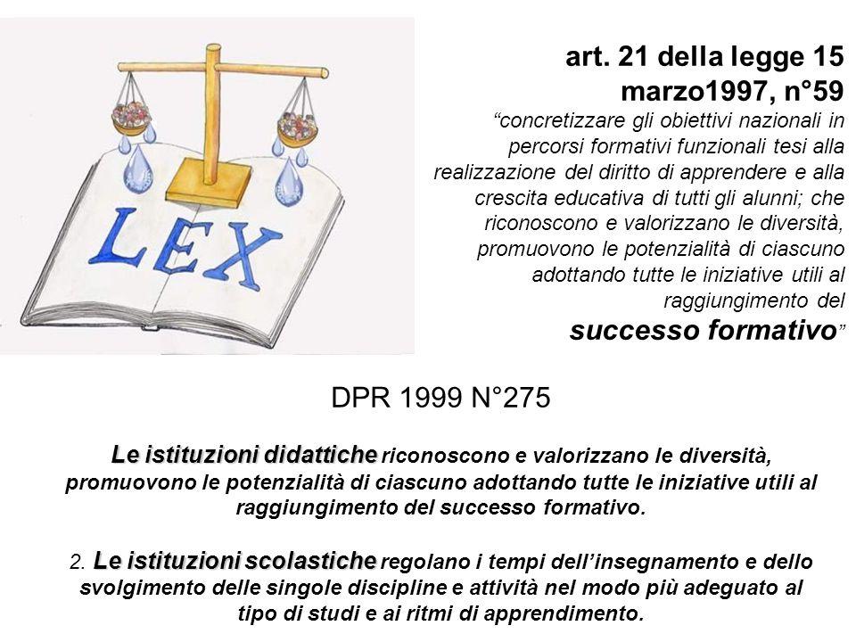 art. 21 della legge 15 marzo1997, n°59