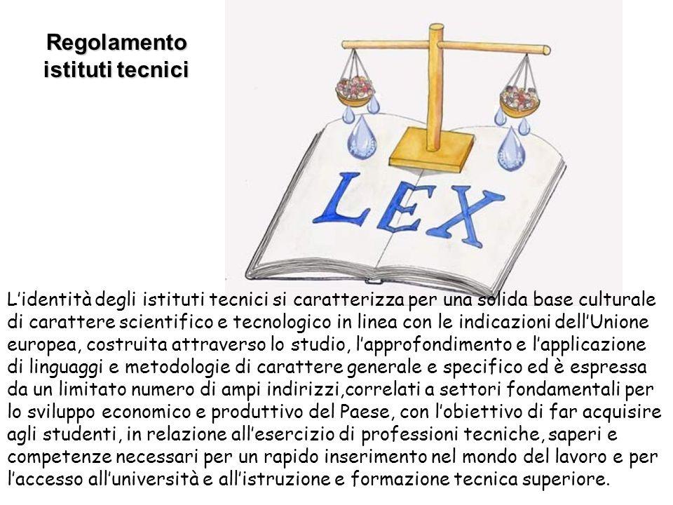 Regolamento istituti tecnici