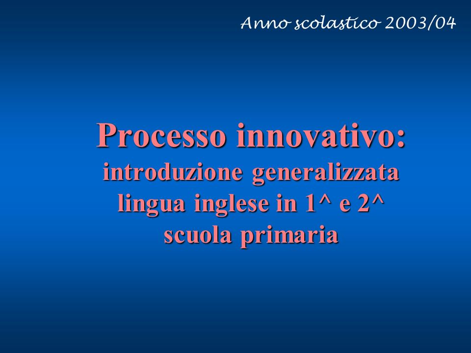 Vi.va 27/03/2017. Anno scolastico 2003/04.