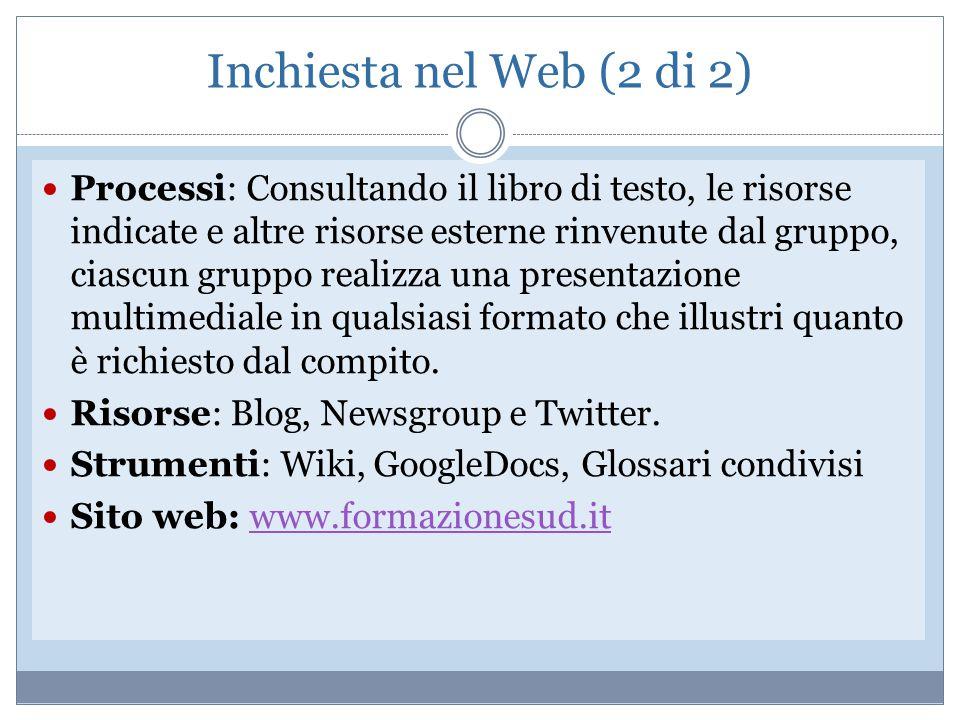 Inchiesta nel Web (2 di 2)