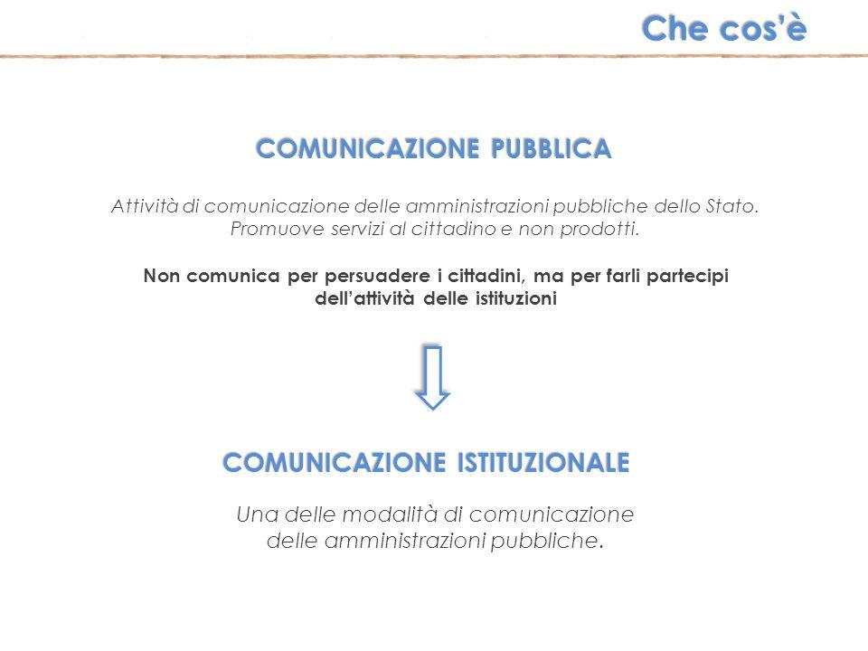 COMUNICAZIONE PUBBLICA COMUNICAZIONE ISTITUZIONALE