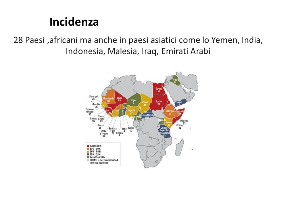Incidenza 28 Paesi ,africani ma anche in paesi asiatici come lo Yemen, India, Indonesia, Malesia, Iraq, Emirati Arabi.