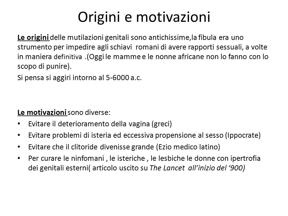 Origini e motivazioni