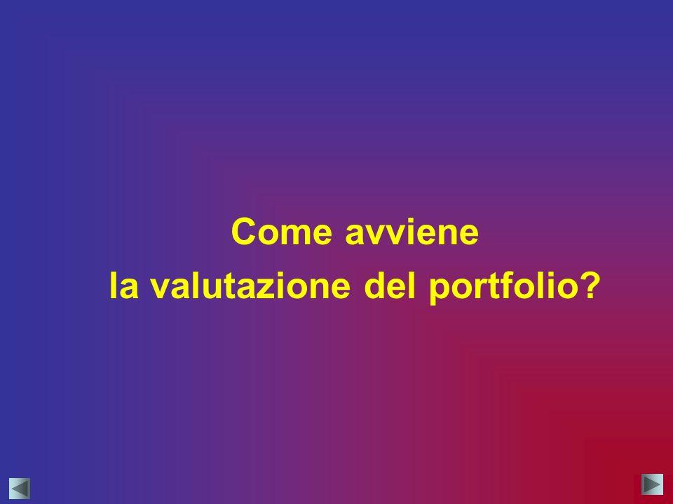 la valutazione del portfolio
