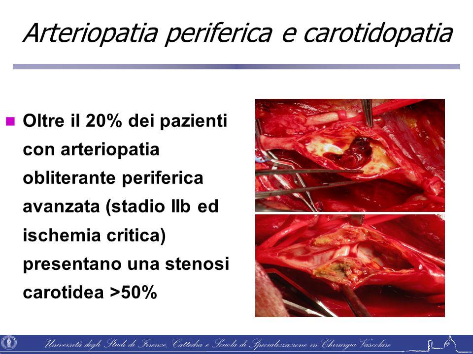 Arteriopatia periferica e carotidopatia