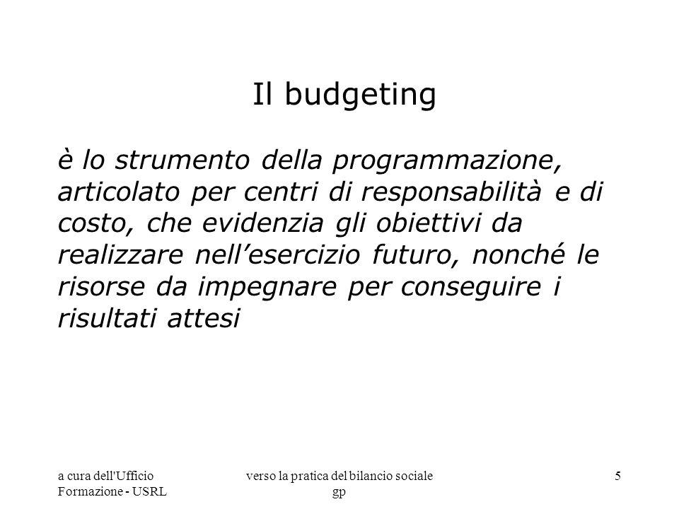 verso la pratica del bilancio sociale