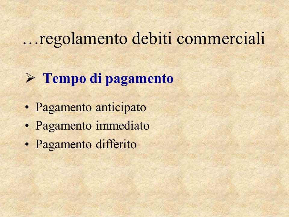 …regolamento debiti commerciali