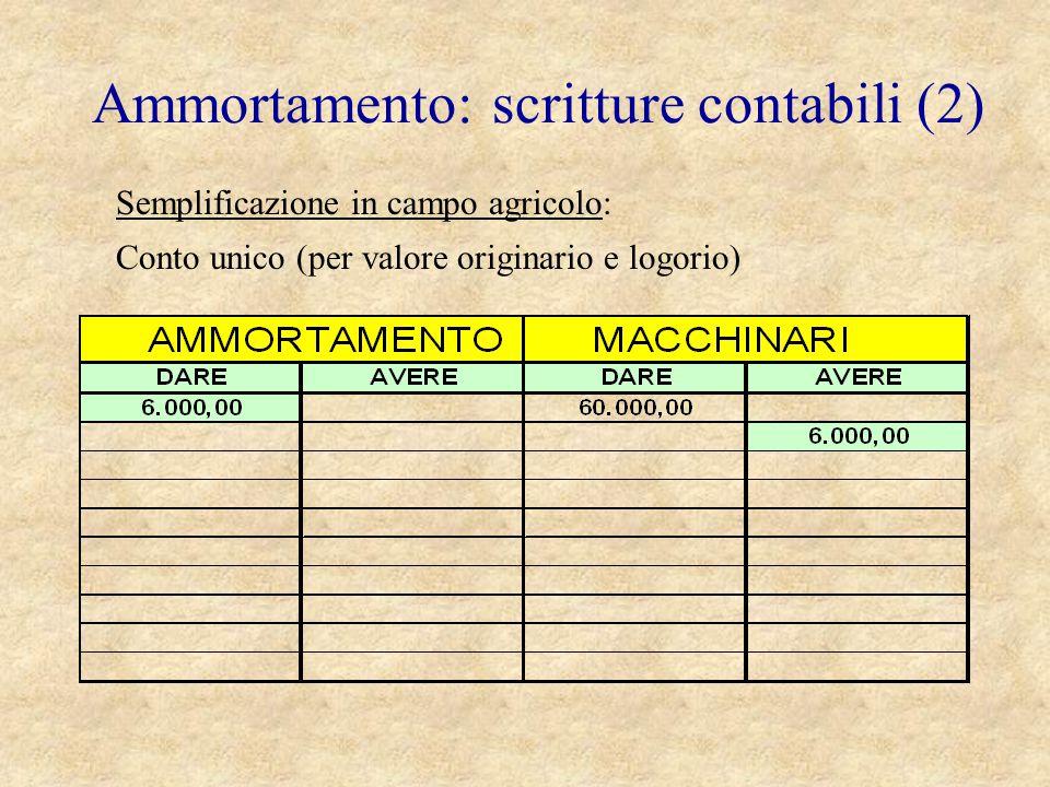 Ammortamento: scritture contabili (2)