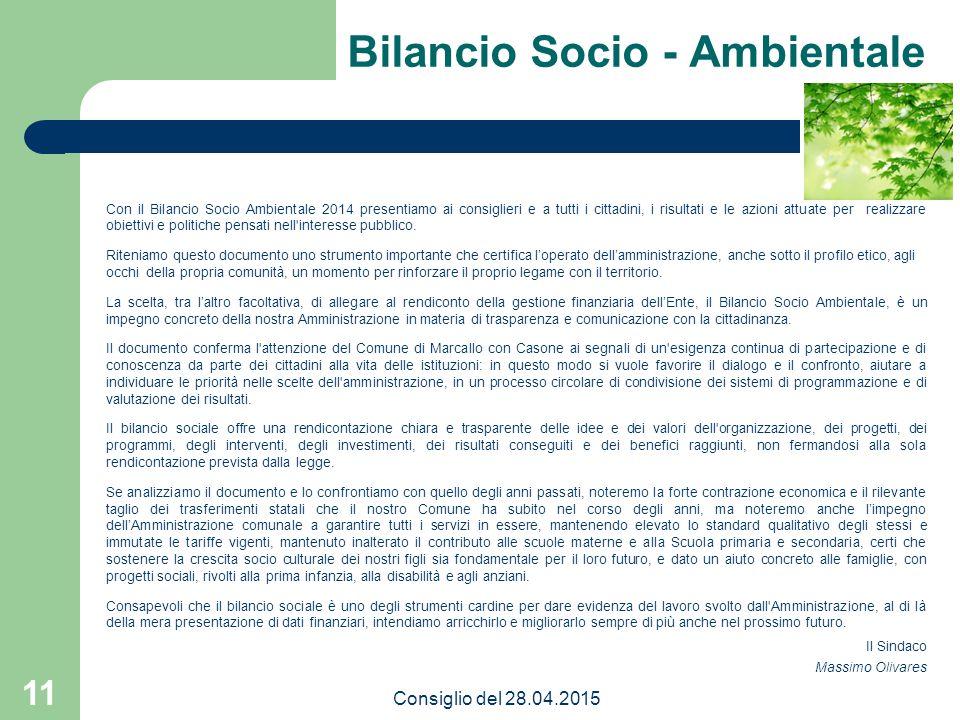 Bilancio Socio - Ambientale