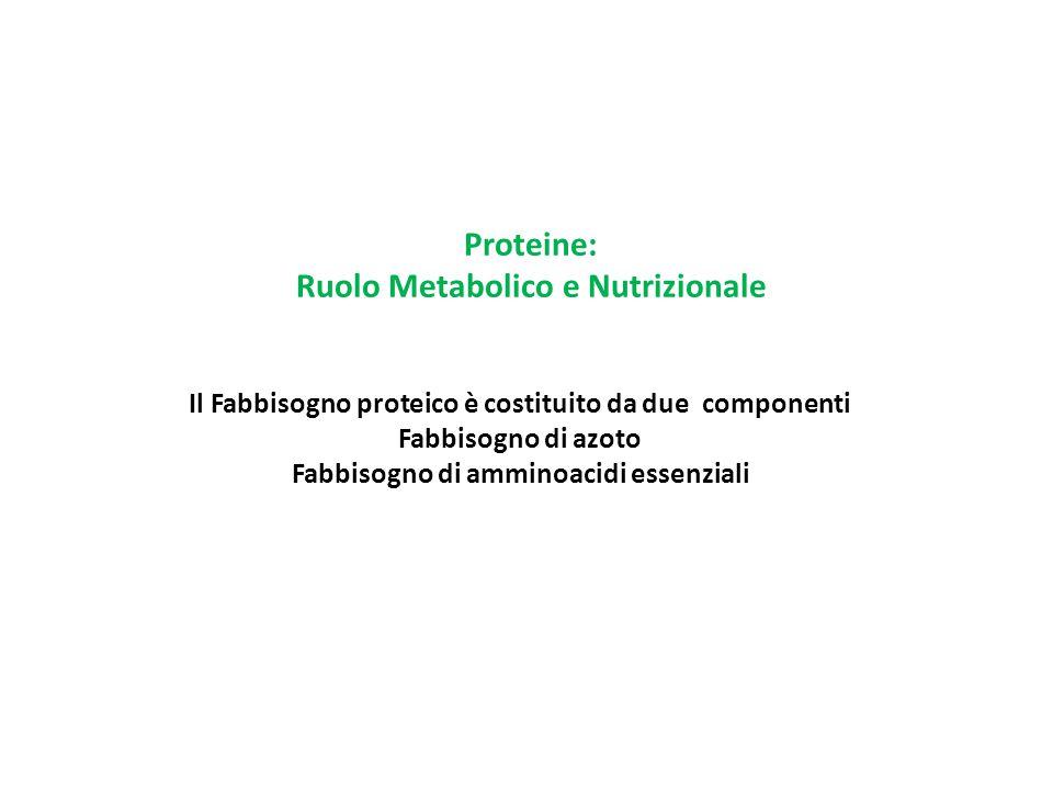 Ruolo Metabolico e Nutrizionale