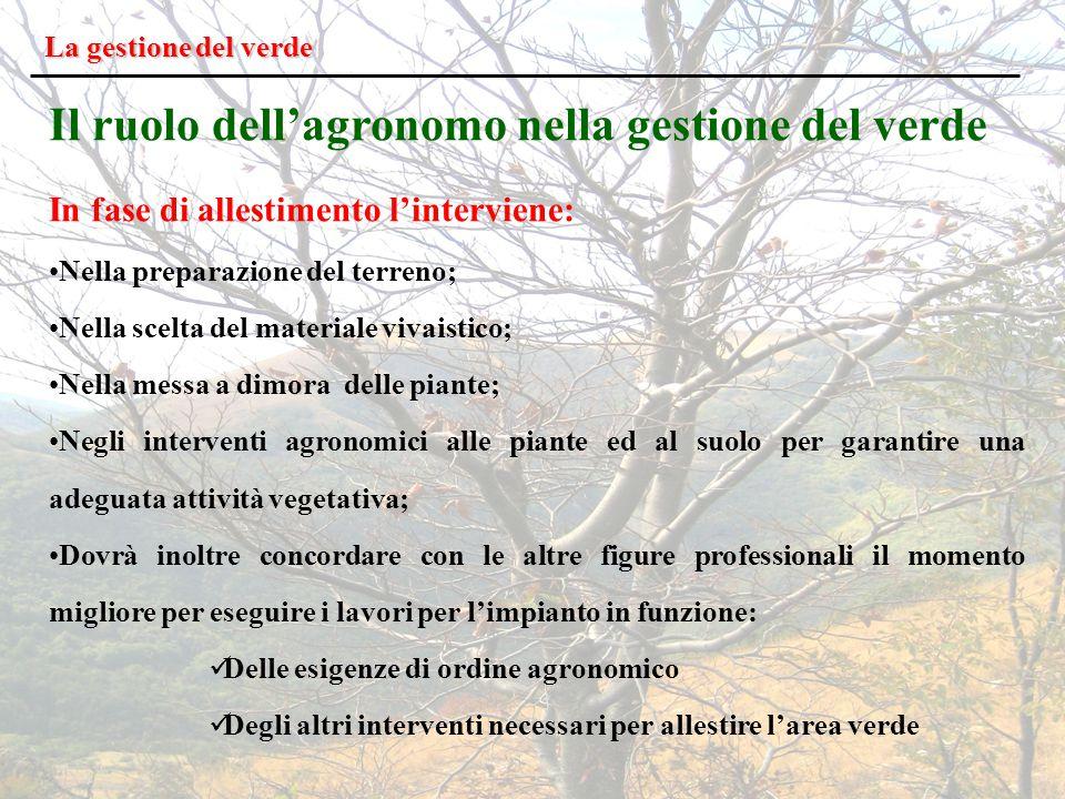 Il ruolo dell'agronomo nella gestione del verde
