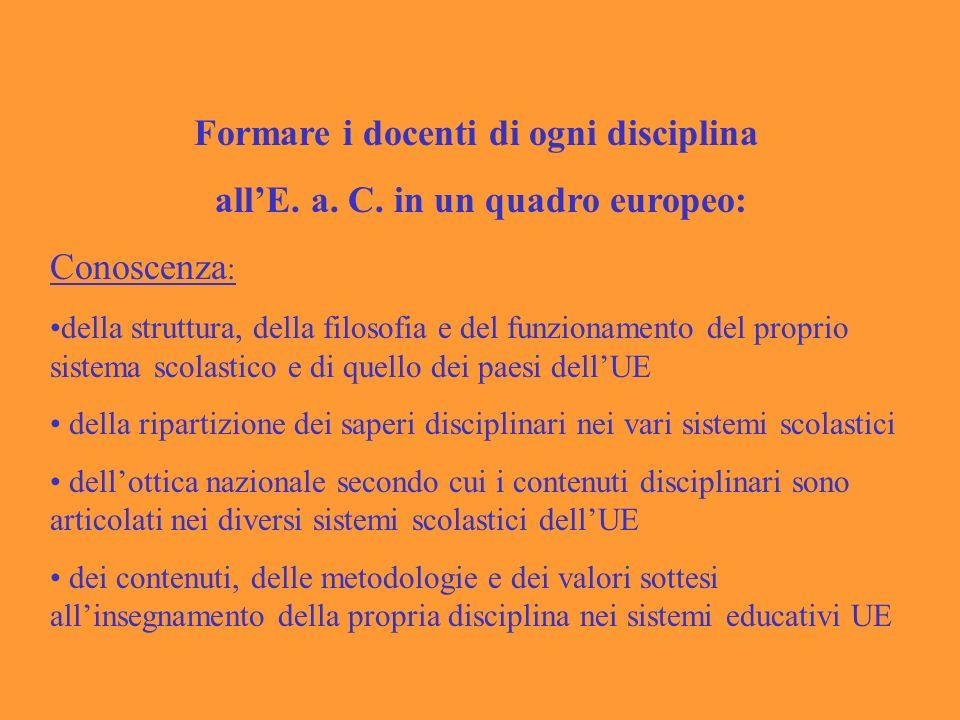 Formare i docenti di ogni disciplina