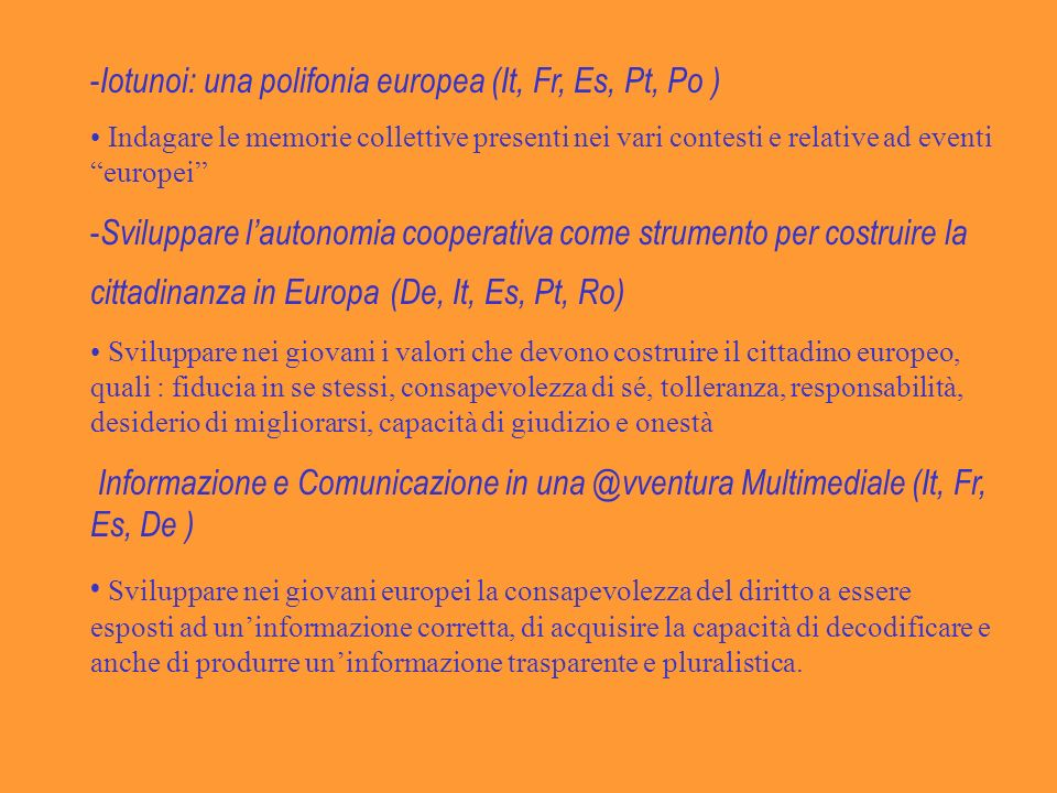 Iotunoi: una polifonia europea (It, Fr, Es, Pt, Po )