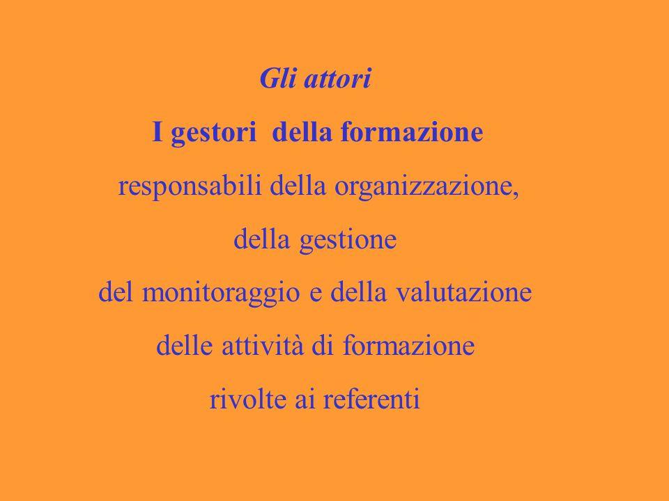 responsabili della organizzazione, della gestione