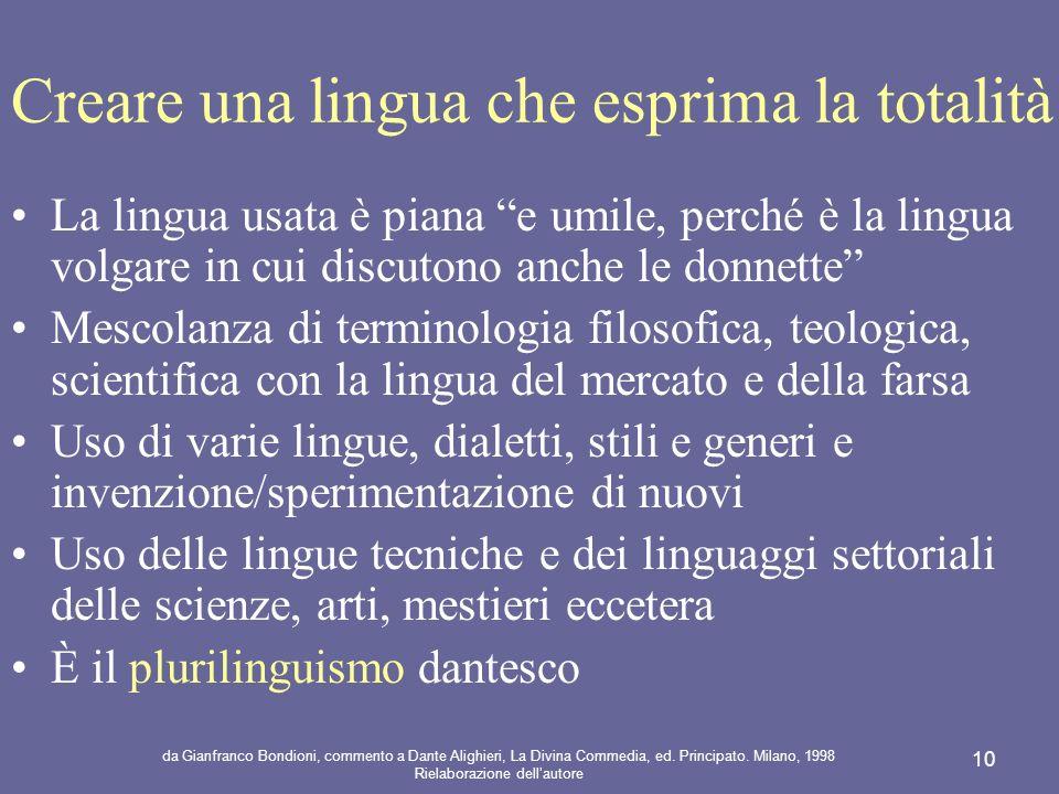 Creare una lingua che esprima la totalità