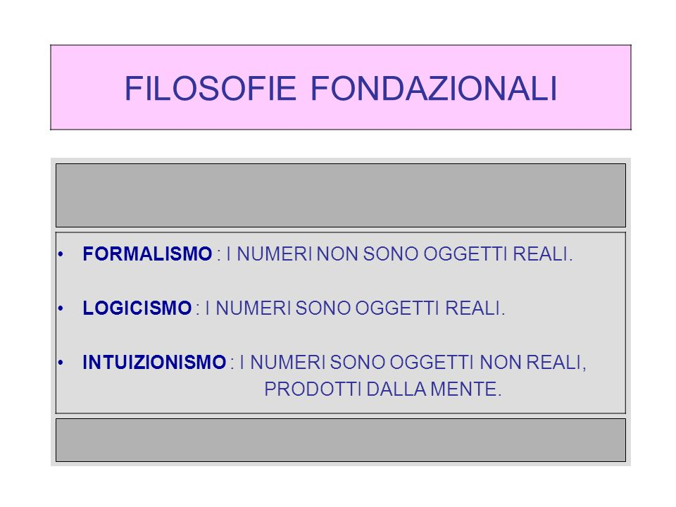 FILOSOFIE FONDAZIONALI