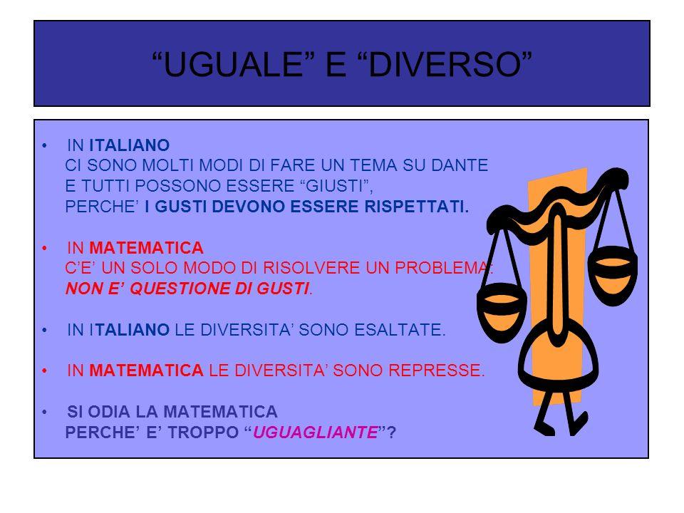 UGUALE E DIVERSO IN ITALIANO