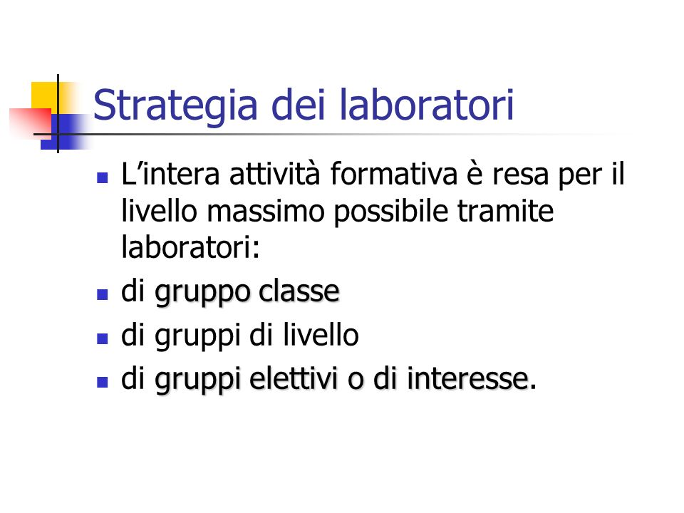 Strategia dei laboratori
