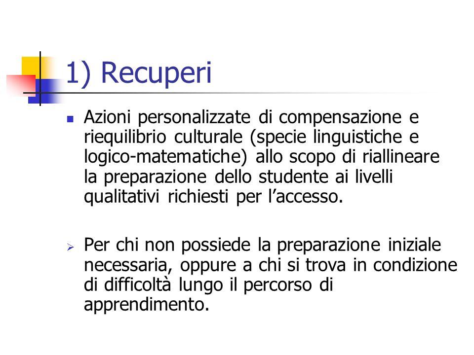 1) Recuperi