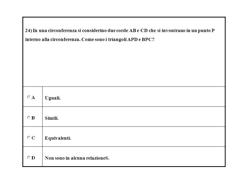 1 quale delle seguenti formulazioni traduce l espressione for Punto p esterno alla circonferenza
