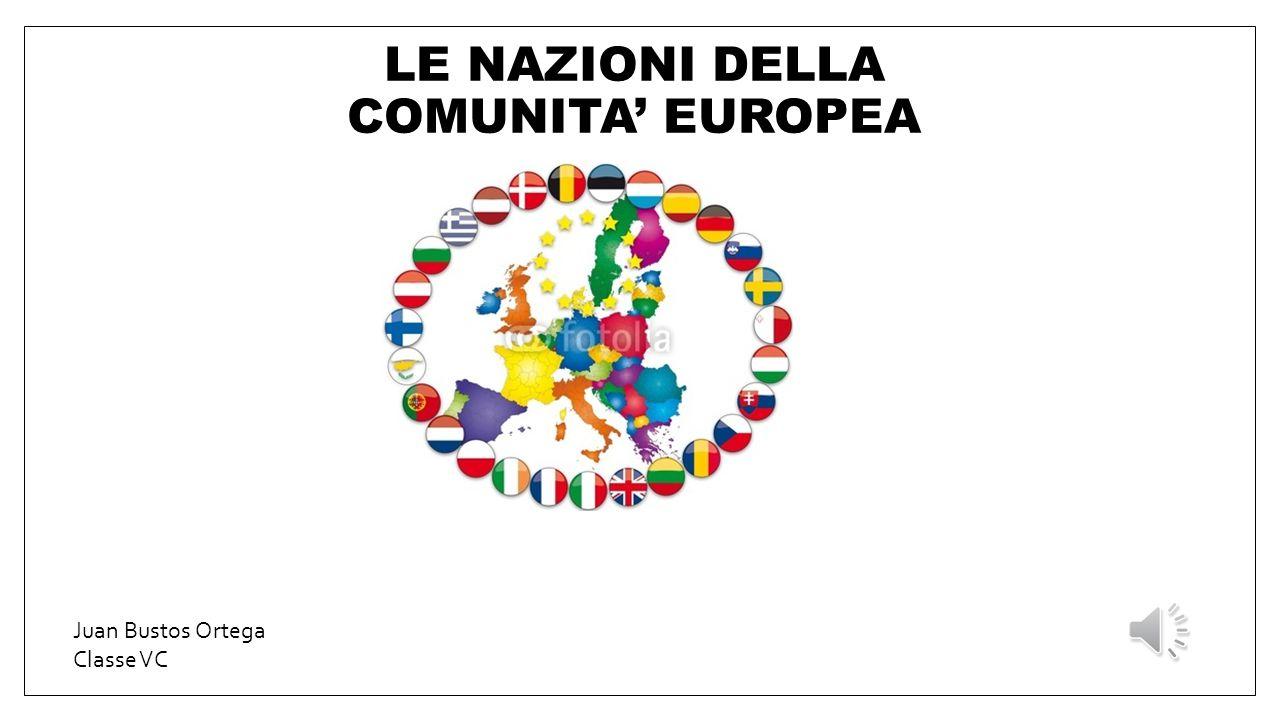 LE NAZIONI DELLA COMUNITA' EUROPEA