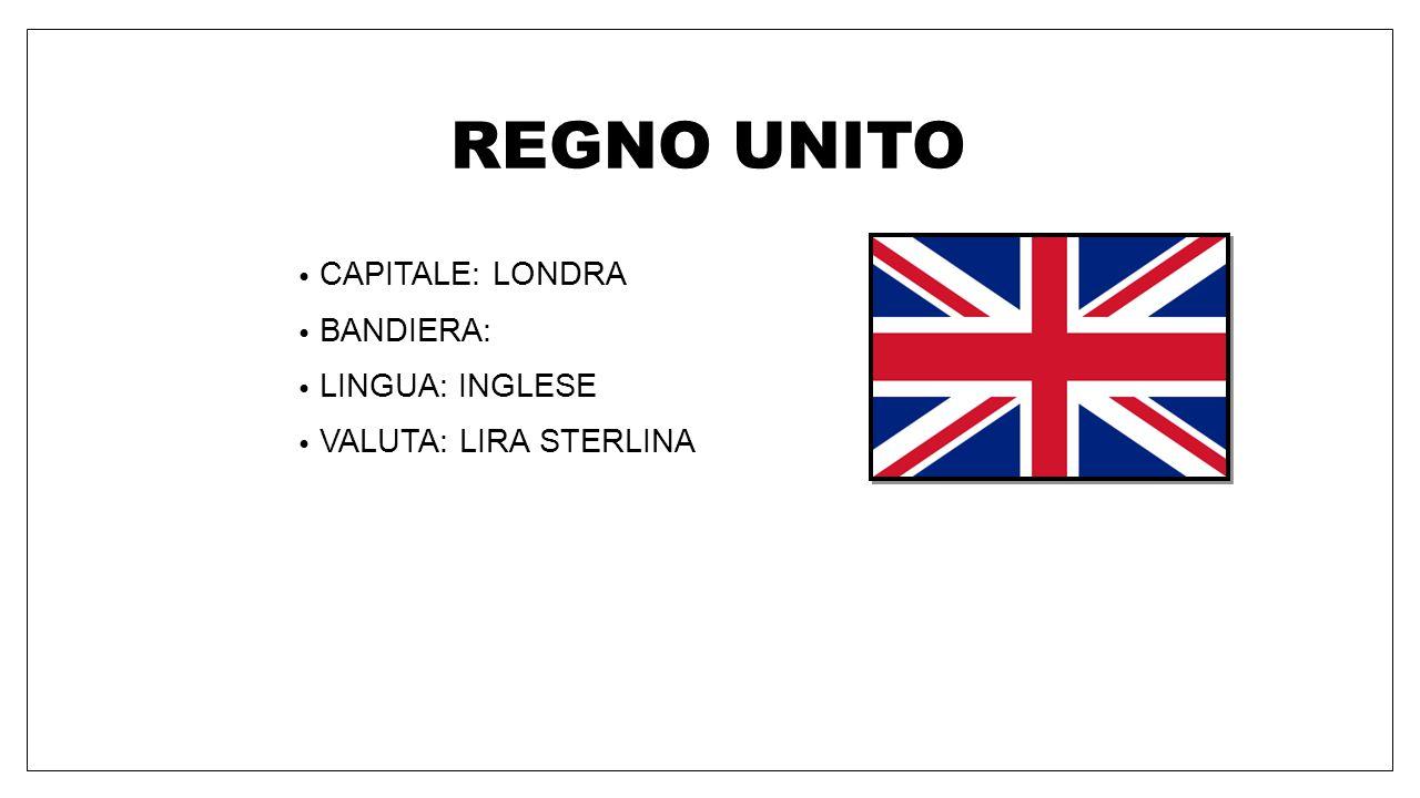 REGNO UNITO CAPITALE: LONDRA BANDIERA: LINGUA: INGLESE