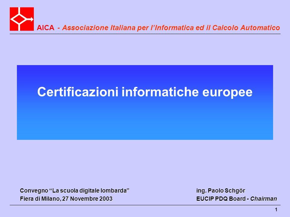 Certificazioni informatiche europee