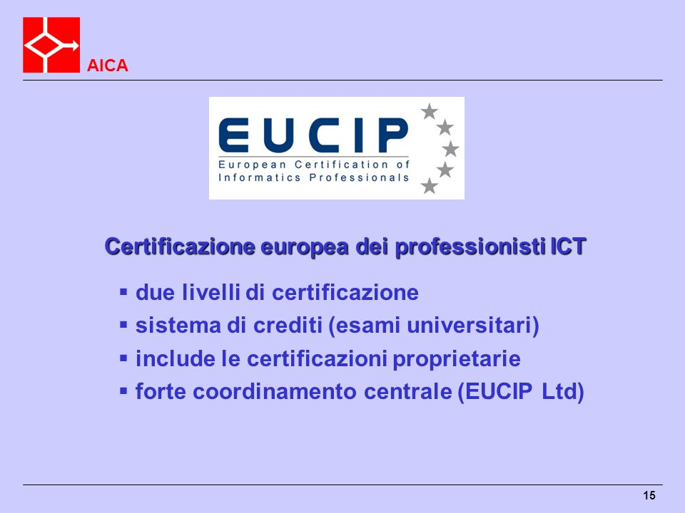 Certificazione europea dei professionisti ICT