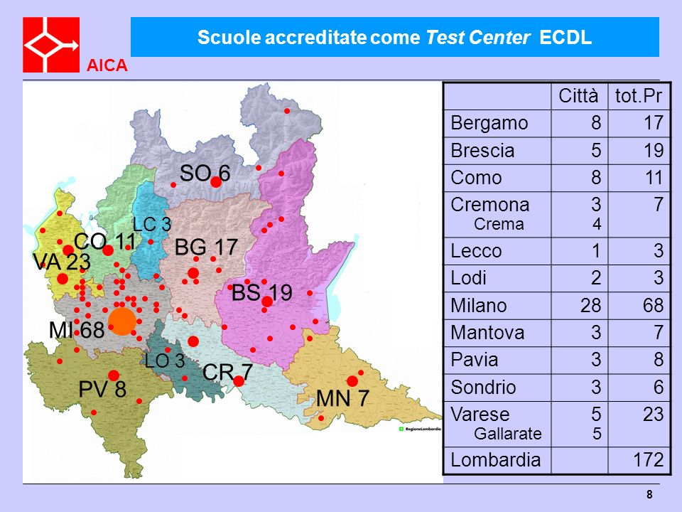 Scuole accreditate come Test Center ECDL