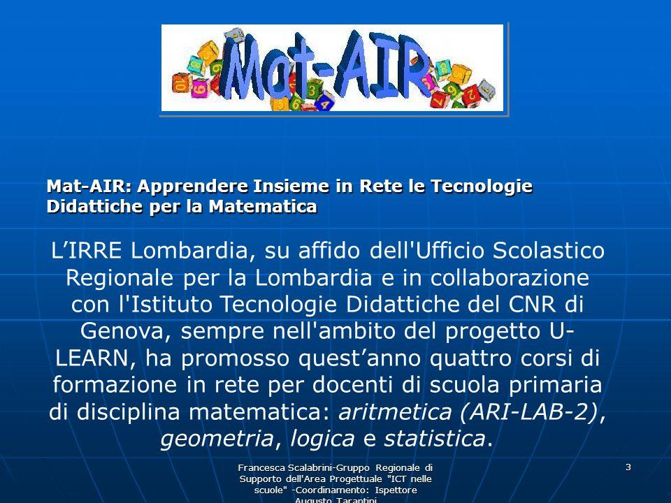Mat-AIR: Apprendere Insieme in Rete le Tecnologie Didattiche per la Matematica
